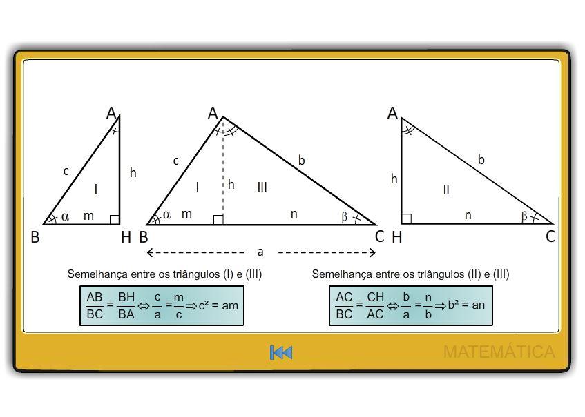 Relações Métricas em Triângulos Retâangulos